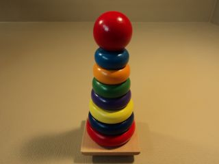 Melissa Doug Rainbow Stacker 8 Pieces Multicolor Ages 2 576 Wood
