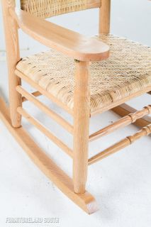 Troutman Chair Co Furniture Kennedy Natural Oak Rocking Chair
