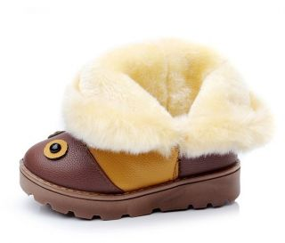Chic Girls Baby Boys Winter Warm Snow PU Fur Ankle Boot Unisex Shoes Kids Infant