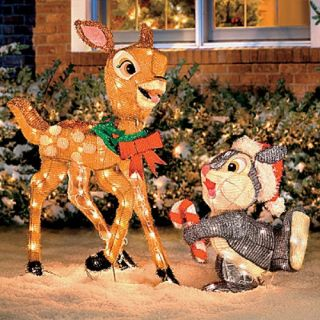 Disney Bambi Thumper Outdoor Christmas Light Holiday Reindeer Yard Stake Decor