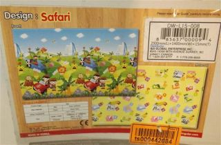 Dwinguler Eco Friendly Kids Baby Play Mat Safari Tour Large