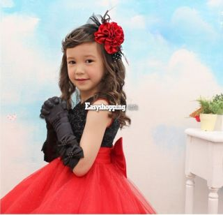 Baby Girl Kid Sleeveless Princess Dress Big Bow Tutu Outfits Party Pettiskirt