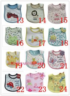 Infant Baby Boy Girl Dribble Feeding Teething Bib Brand New Many Styles
