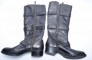 Womens 9 New Black Leather Boots 9