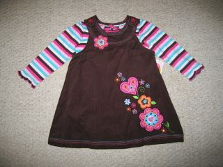 "New ""Autumn Country"" Dress Girls Baby Clothes 12M Fall Winter Corduroy Boutique"