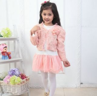 2pcs New Girl Baby Kids Flower Top Coat Dress Tutu Skirt Pageant Outfit Clothes