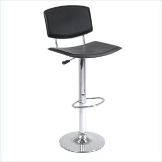 Winsome Spectrum Single Air Lift Adjustable Black Bar Stool