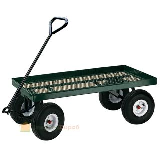 "1000lbs Heavy Duty Garden Nursery Wagon Cart 38"" x 20"" w 10"" Pneumatic Tires"