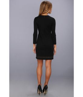 Nicole Miller Harmony Studded L S Dress Black