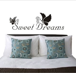 Sweet Dreams Butterfly Vinyl Quote Wall Sticker Decal Kid Nursery Home Decor