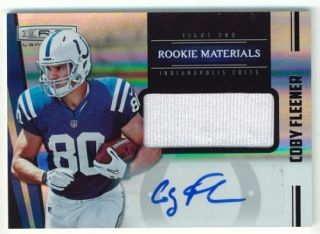Coy Fleener 2012 Rookies and Stars Longevity 25 RC Autograph Auto Jersey Colts