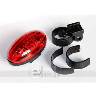 New 5 Super Bright LED Bicycle Bike Cycling Rear Tail Light Lamp Red XC 781