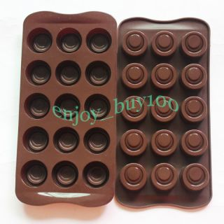Baking Pan Round Holes Chocolate Cake Jelly Mould Tray Candy Mold Silicone Party