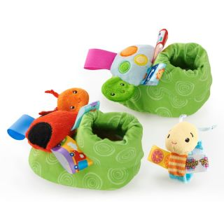 Taggies Toes Wristies Set Baby Foot Rattles Baby Wrist Rattle