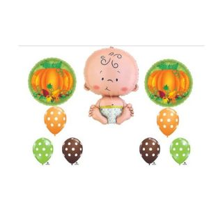 Lil Little Pumpkin Fall Baby Shower Party Balloons Decorations Supplies