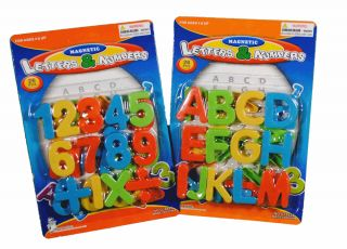 Lot of 52 Educational Magnetic Letters Numbers Symbols