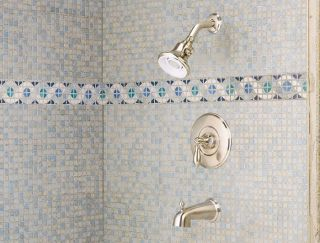 Price Pfister 808 E0BK Catalina Tub Shower Faucet with Valve Set Brushed Nickel