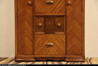 Art Deco Waterfall Combination Closet Desk Dresser