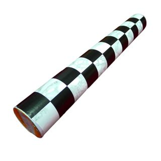 Black White Checker Removable PVC Self Adhesive Wall Contact Paper 5M 16ft