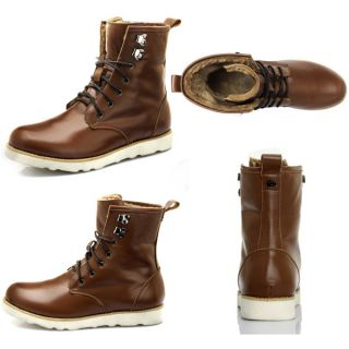 New Men Real Leather Autumn Winter Shoelace Boots Martin Boots High Quality EX24