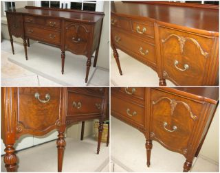 Vintage Antique Buffet Credenza French Provincial Style