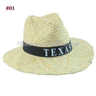 New Hot Cool Western Texas Rodeo Style Cowboy Cowgirl Unisex Straw Hat One Size