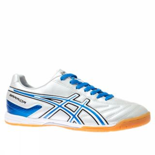 Asics Warrior Indoor White Light Blue Trainers Shoes Mens Soccer New
