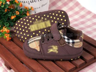 New Toddler Baby Boy Brown Checker Dress Shoes US Size 2 A897