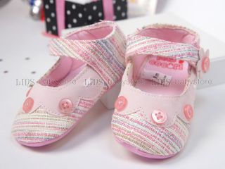 New Toddler Baby Girl Pink Mary Jane Hard Sole Shoes 6 9 12 Months A1043