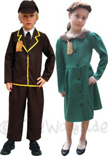 Evacuee Kids Costumes Girls Boys Bookweek War Military World War 2 Outfits