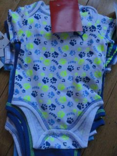 Set 5 Infant Baby Toddler Boy Boys Puma Bodysuits Rompers Undershirts 3M 6M