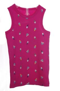 Baby Girls Pink Ice Cream SS Shirt Tank Top Size 12 18 24 Months 2T 3T 4T 5T New