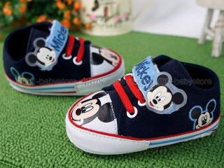 New Toddler Baby Boy Blue Mickey Casual Shoes US Size 2 3 4 A988