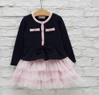 Ruffle Baby Girls Tutu Pincess Skirt Wedding Party Formal Kids Dress 5 6Y Gifts