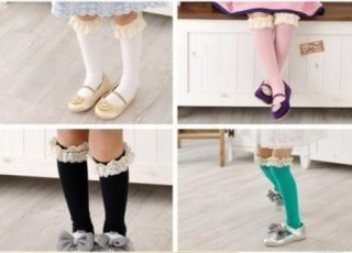 New Kids Toddlers Girls Soft Knee High School Socks 2 8Y Tights Leggings Soft