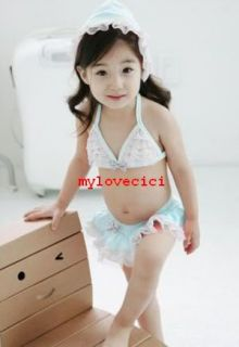 Girls Baby Child Bikini Swimsuit Swimwear Tankini Swim Bathing Suit Bathers Set