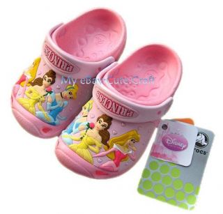 Kids CROCS0 Princess Party Girls Sandals Clog US Size 6 7 8 9 10 11 12 13