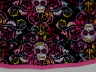 New Punk Sugar Skull Skeleton Baby Girl Dress Clothes