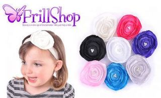 Handmade Satin Poppy Pearl Headband Hairband Baby Girl Lady Christening Party