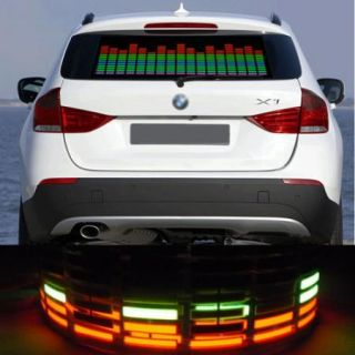 New 90x25cm Car Sticker Music Rhythm Sound Activated LED Light Lamp Equalizer