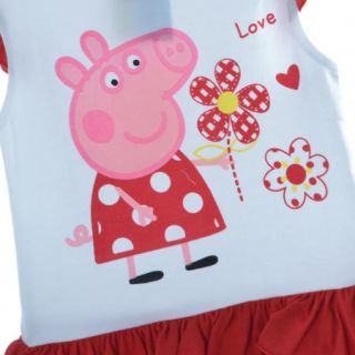 Girl Clothes Kids 1 5Y Peppa Pig Dora Ruffle Tutu Top Shirt Floral Dress Cartoon