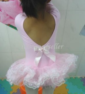 Girl Leotard Ballet Tutu Dance Party Dress 2 8Y Toddler Costume Long Sleeve