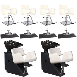 Beauty Salon Equipment Styling Chair Mat Shampoo Backwash Unit Package EB 34A