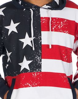 Decibel American Flag Stars and Stripes Hoodie