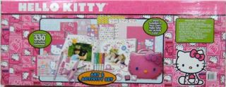 Hello Kitty Art Activity Set 330 PC HK Case Stickers Coloring Pad Sketch Book