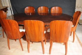 Art Deco Dining Set Table and Chairs Suite Furniture