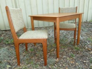 Small Danish Modern Teak Dining Set Square Table w 2 Chairs Mobler Denmark
