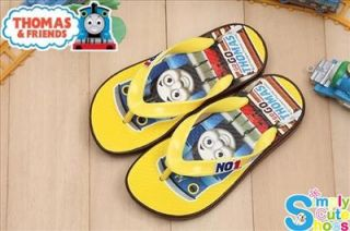 Thomas The Tank Boy's Flip Flops Slippers Shoes Yellow TH2038
