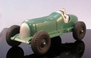 1930's Hubley Kiddie Toy 7 inch Die Cast Racer No 5 with Driver Excellent
