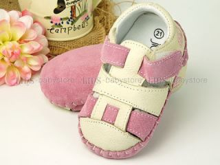 Baby Toddler Girl Boy Pink Blue Leather Sandals Shoes Size 2 3 4 5